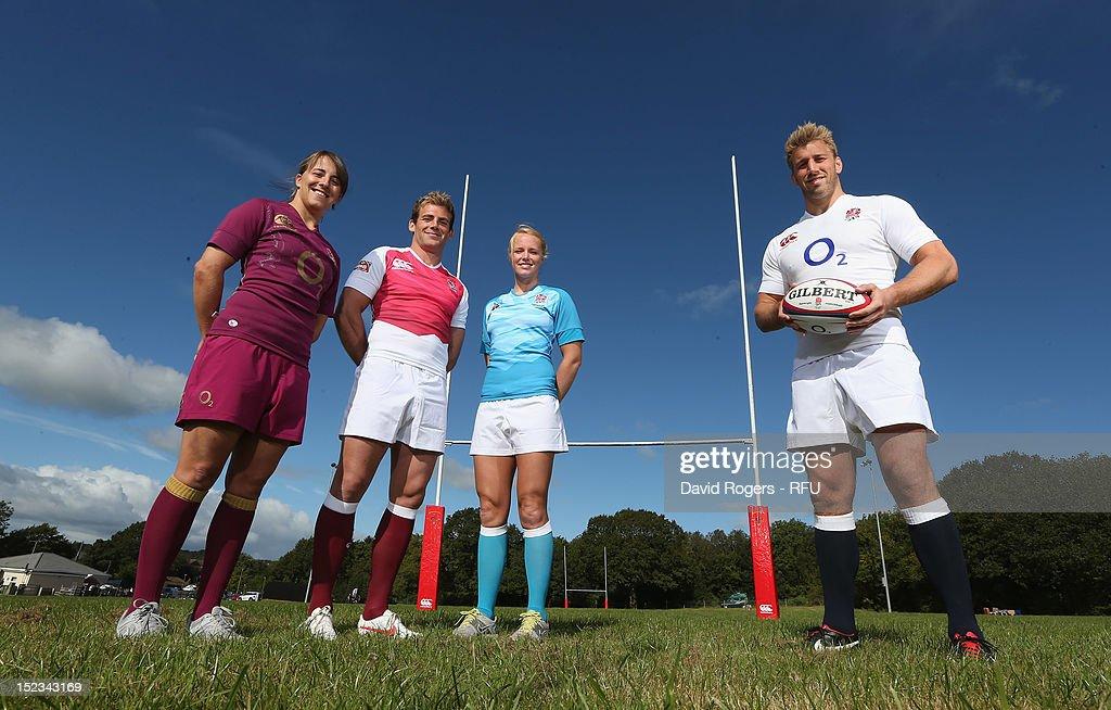 9dba866be6e England captains Chris Robshaw, Michaela Staniford, Rob Vickerman ...