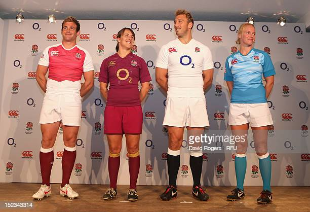 93afdfe824b England captains Michaela Staniford Chris Robshaw Katy McLean and Rob  Vickerman pose during the official launch. Official Launch of New England  Rugby ...