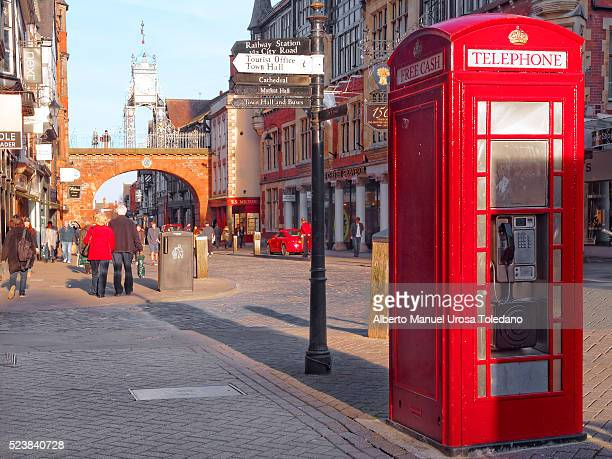 England, Chester, Eastgate street and Phonebox
