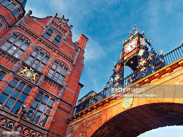England, Chester, Eastgate street, Eastern Clock