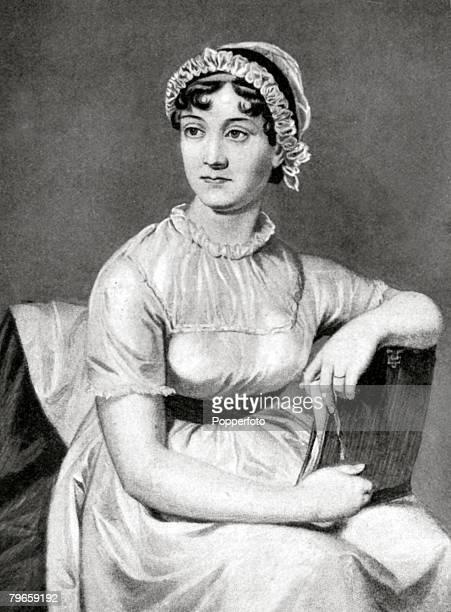 England Circa 1800 Illustration of British Novelist Jane Austen