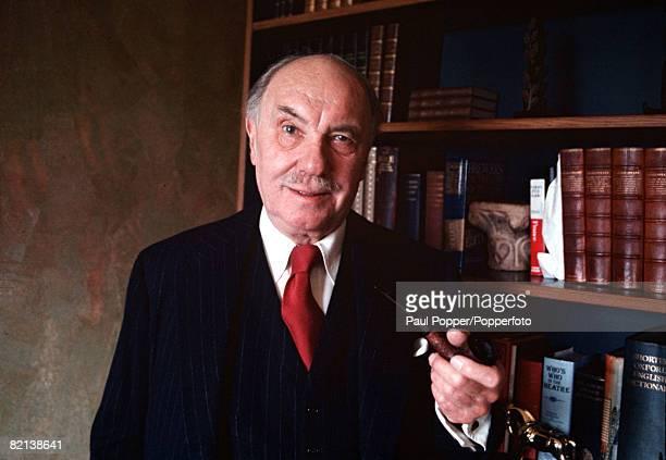 England Circa 1970's A portrait of British actor Sir Ralph Richardson at his home