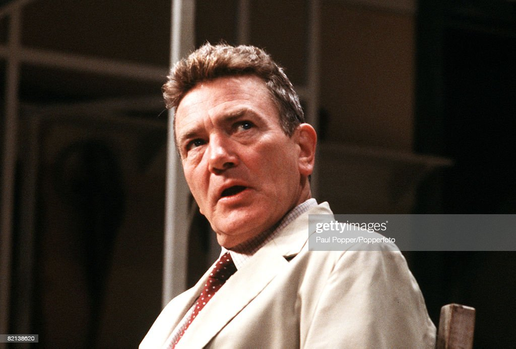 England, Circa 1980's, British actor Albert Finney is pictured during a performance : News Photo