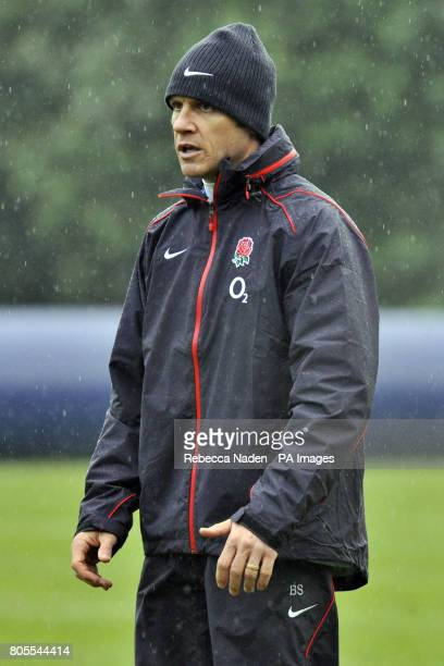 England coach Brian Smith during a training session at Penny Hill Park Hotel Surrey