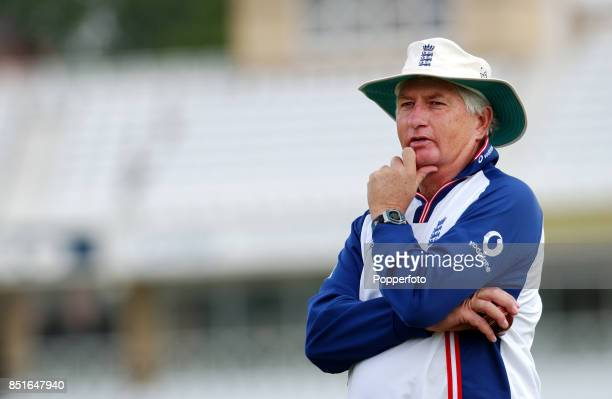 England coach Duncan Fletcher during net practice at Trent Bridge on August 6, 2002 in Nottingham, England.