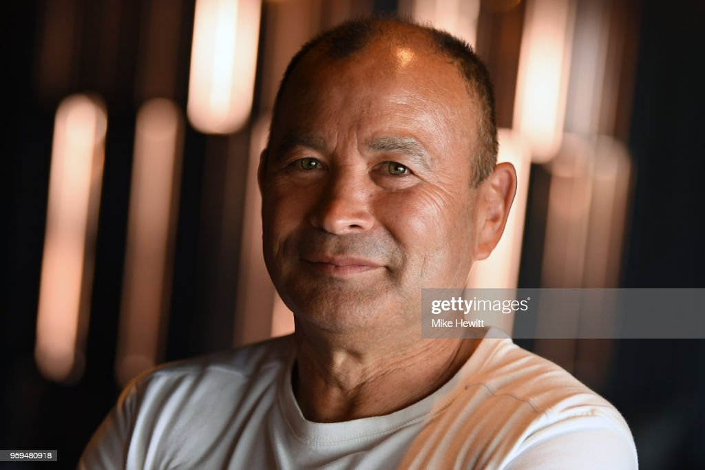 England coach Eddie Jones poses for a portrait during an England RFU media briefing at Brighton Marina on May 17, 2018 in Brighton, England.