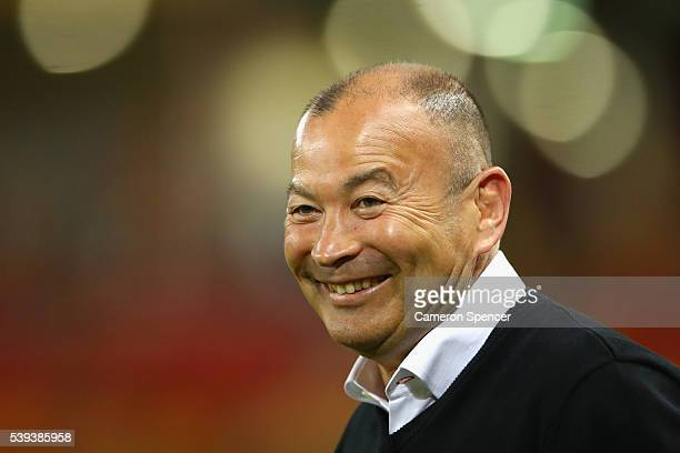 England coach Eddie Jones walks onto the pitch prior to the International Test match between the Australian Wallabies and England at Suncorp Stadium...