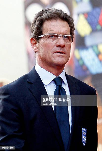 England coach Fabio Capello arrives before the Final Draw for the FIFA World Cup 2010 December 4, 2009 at the International Convention Centre in Cape...