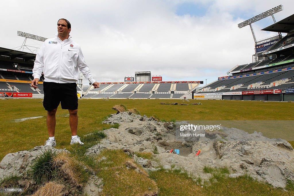 England IRB RWC 2011 Squad Visit Christchurch