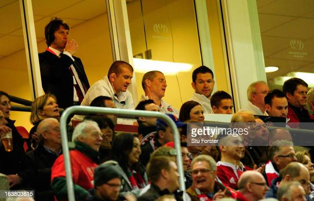 England coach Stuart Lancaster looks on dejectedly from the coaches box during the RBS Six Nations match between Wales and England at the Millennium...