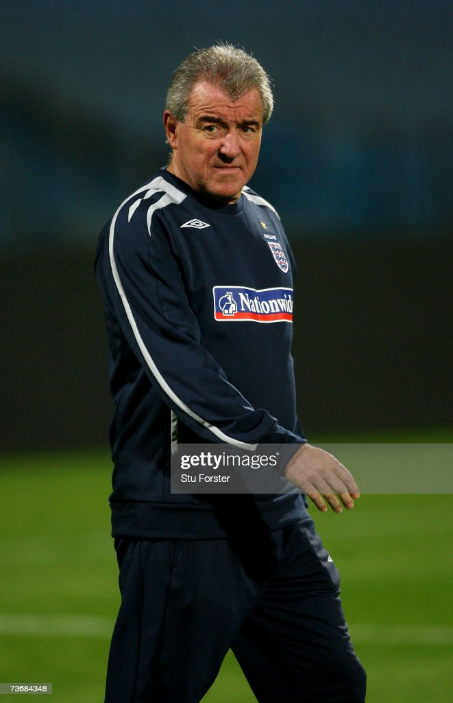 England coach Terry Venables looks on during England training today at The Ramat Gan Stadium ahead of tomorrows Euro 2008 Qualifier against Israel on March 23, 2007 in Tel Aviv, Israel.