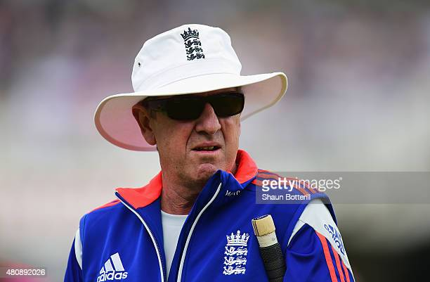 England coach Trevor Bayliss before day one of the 2nd Investec Ashes Test match between England and Australia at Lord's Cricket Ground on July 16...
