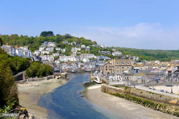 uk, england, cornwall, looe, view to looe river - cornwall england stock pictures, royalty-free photos & images