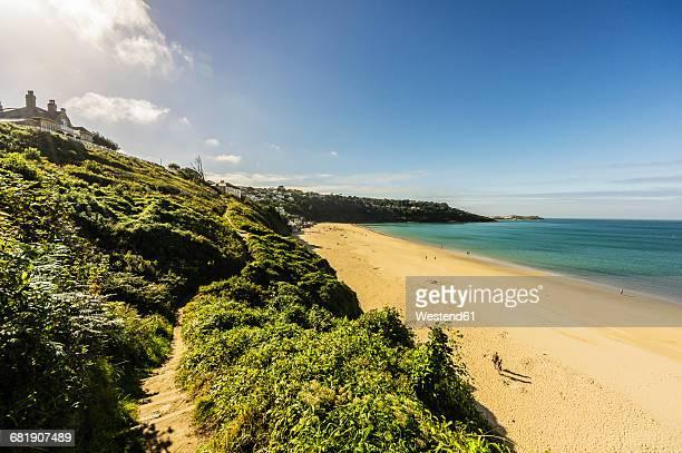 UK, England, Cornwall, St Ives, beach at Carbis Bay
