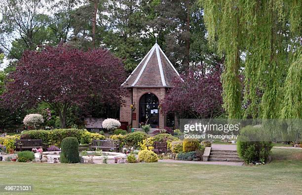 england: crematorium and cemetery at horsham st. faith - crematorium stock photos and pictures