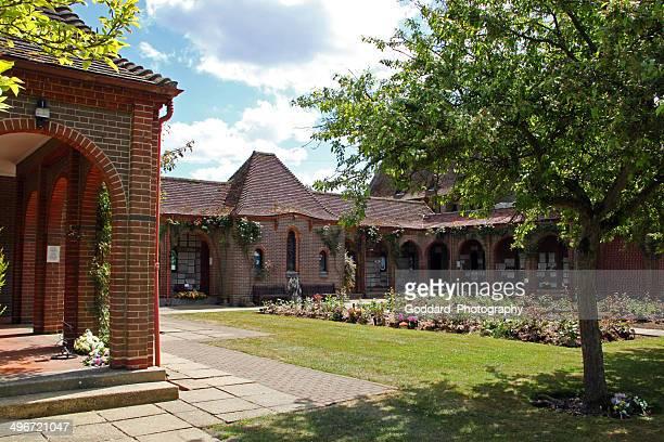 england: crematorium and cemetery at horsham st. faith - crematorium stock pictures, royalty-free photos & images