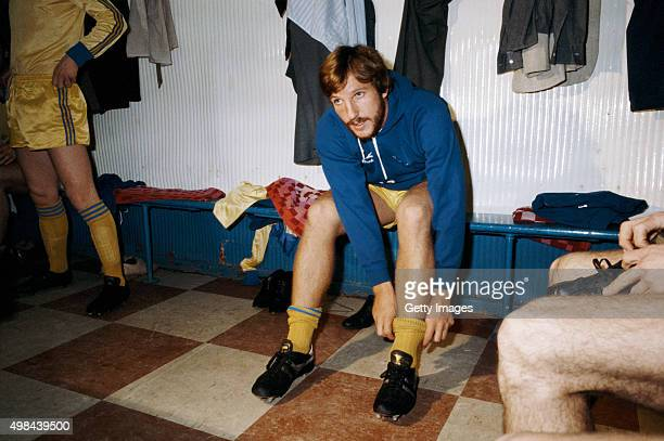 England cricket captain Ian Botham gets ready for his football debut as a substitute for Scunthorpe United in a League Division Four match between...