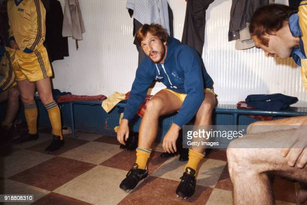 England cricket captain Ian Botham gets ready for his Football debut as a substitute for Scunthorpe United in a League Division Four match against...