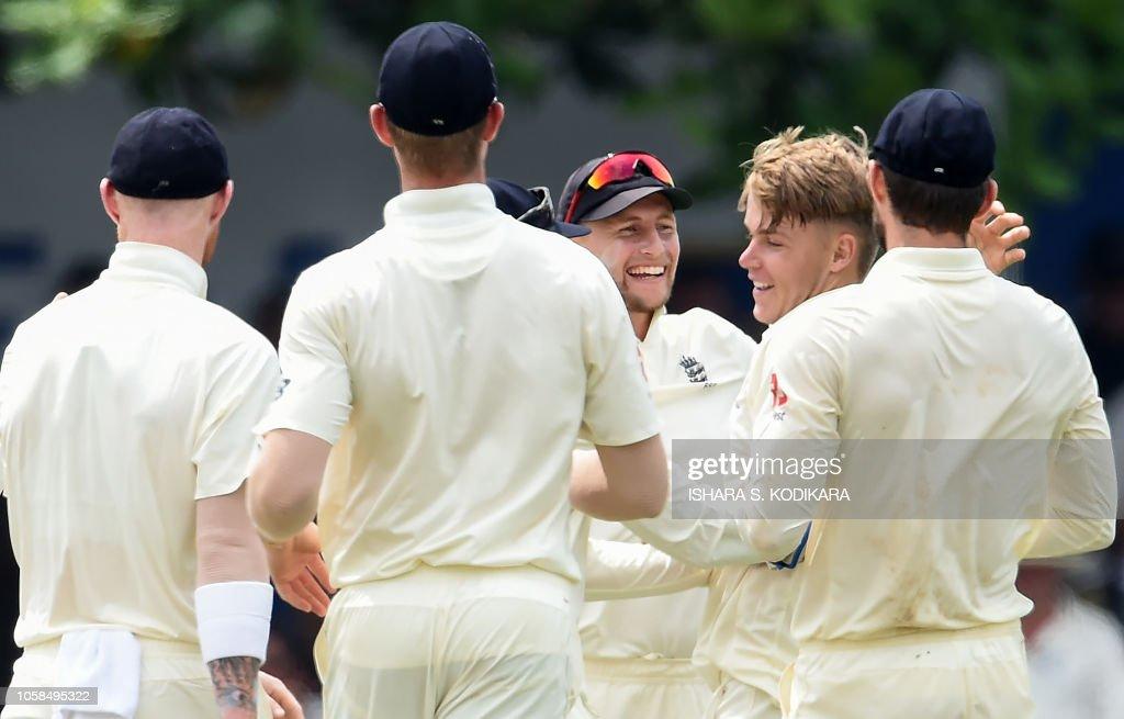 England Cricket Captain Joe Root And Sam Curran Celebrate