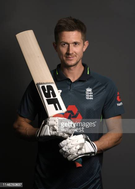 England cricket player Joe Denly pictured during an England Headshot session at the Vale of Glamorgan Hotel on May 01, 2019 in Cardiff, Wales.