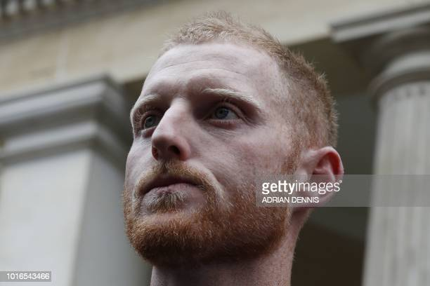 England cricketer Ben Stokes leaves Bristol Crown Court in Bristol southwest England on August 14 where he was found not guilty of affray England...