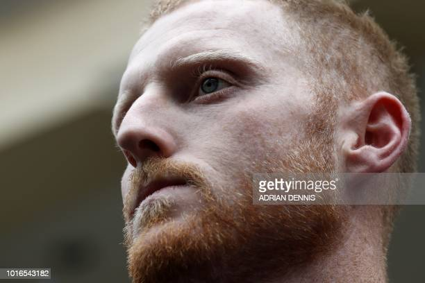 England cricketer Ben Stokes leaves from Bristol Crown Court in Bristol southwest England on August 14 after he was found to be not guilty of affray...