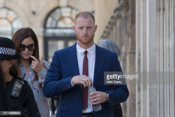 England Cricketer Ben Stokes walks into Bristol Crown Court on August 6 2018 in Bristol England Ben Stokes Ryan Ali 28 and Ryan Hale are jointly...