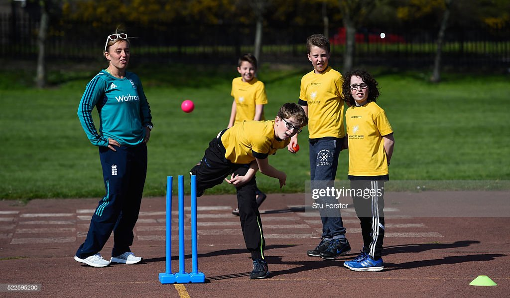 Ben Stokes with WWE wrestlers and Chance to Shine ECB Event : News Photo