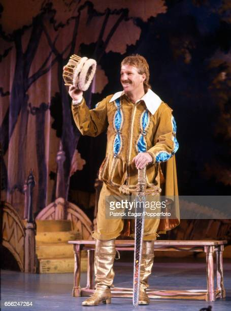 England cricketer Ian Botham stars in the pantomime Jack and the Beanstalk in Bournemouth December 1991
