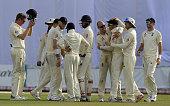 england cricketer jack leach celebrates with