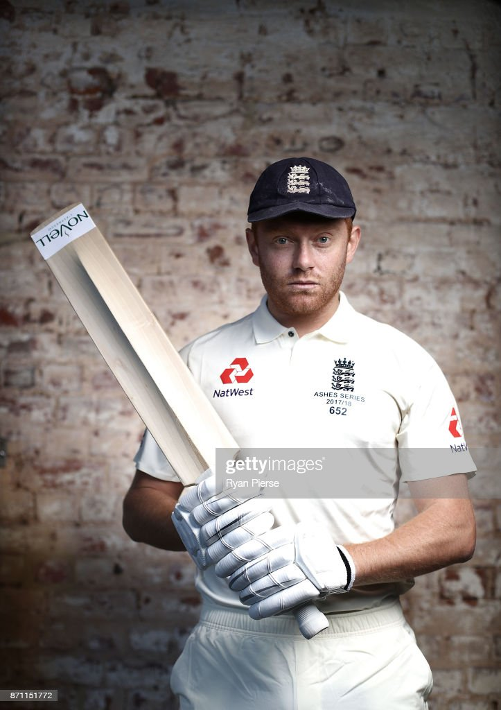 England cricketer Jonny Bairstow poses during a portrait session at Adelaide Oval on November 7, 2017 in Adelaide, Australia.