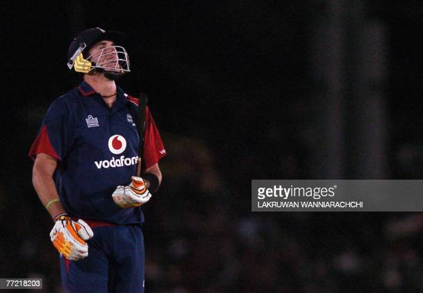 England cricketer Kevin Pietersen walks back to the pavilion after his dismissal during the third One-Day International match of the series against...