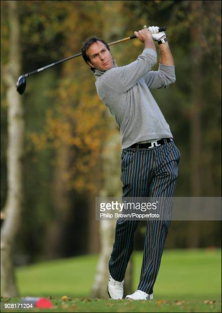 England cricketer Michael Vaughan playing golf in a Paul Collingwood benefit event at Woburn Golf Club 1st November 2007