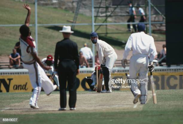 England cricketer Mike Brearley batting against the West Indies in a Benson Hedges World Series Cup day/night match at Sydney Cricket Ground 28th...