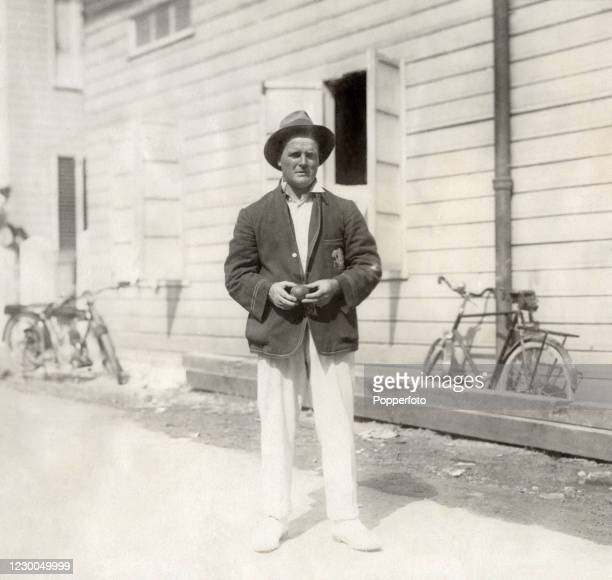 England cricketer Roy Kilner in Georgetown, British Guyana prior to the match between the West Indies and the MCC England team on 8th February 1926....