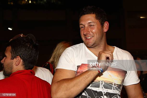 England cricketer Tim Bresnan arrives at the Retro on January 7 2011 in Sydney Australia The English cricket team defeated Australia to retain the...