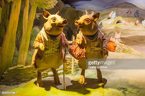 England Cumbria Lake District BownessonWindermere The World of Beatrix Potter Attraction Display of Model Animals from Beatrix Potter Novels