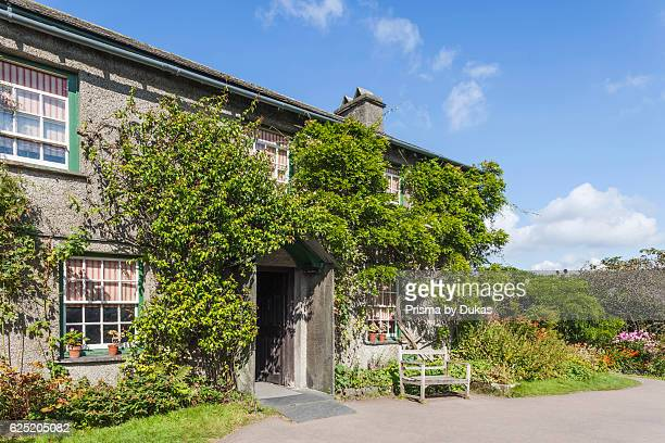 England, Cumbria, Lake District, Windermere, Hawkeshead, Beatrix Potter's Cottage Hill Top.