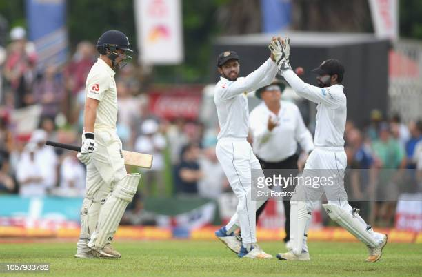 England debutant Rory Burns leaves the field after being dismissed during Day One of the First Test match between Sri Lanka and England at Galle...