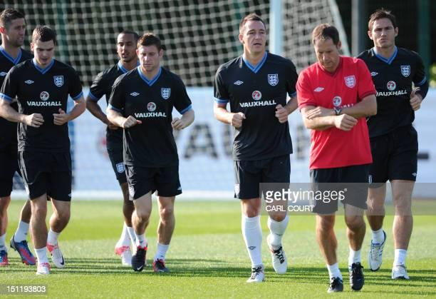 England defender Gary Cahill midfielder Adam Johnson midfielder Theo Walcott midfielder James Milner defender John Terry and midfielder Frank Lampard...