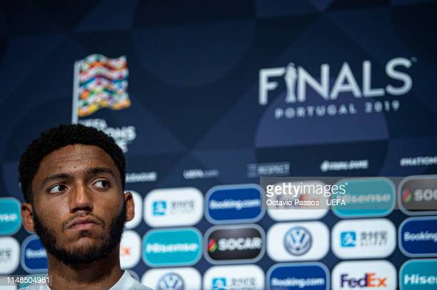 England defender Joe Gomez during the press conference prior the UEFA Nations League third place playoff match between Switzerland and England at...