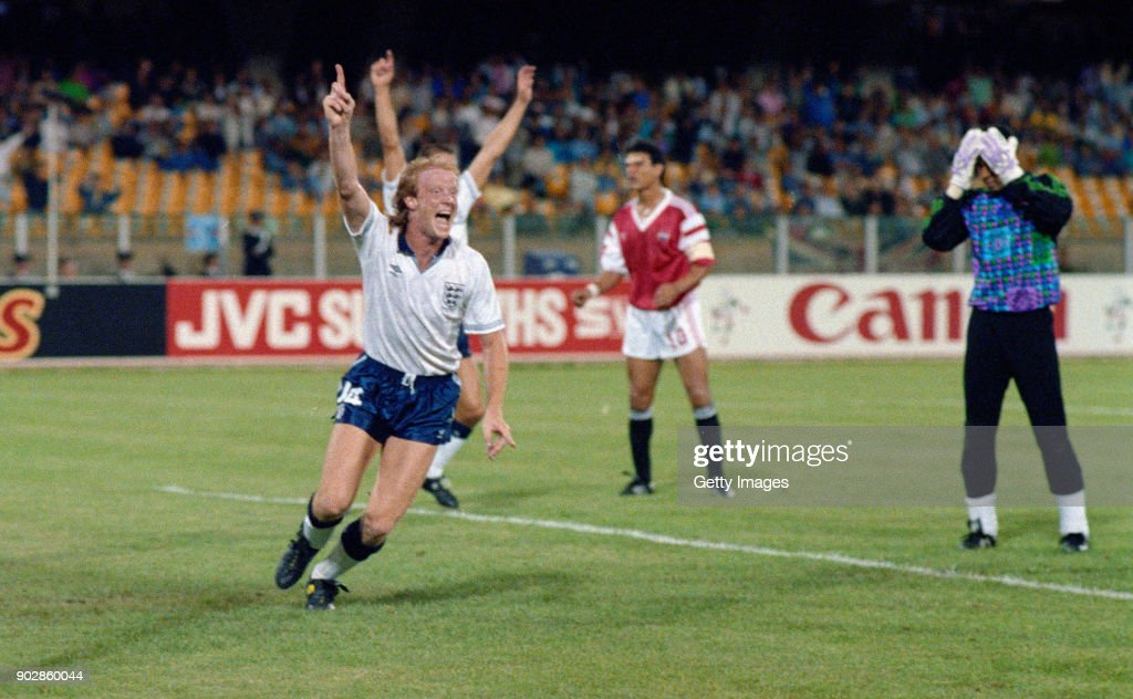 1990 FIFIA World Cup Finals England v Egypt : Foto jornalística
