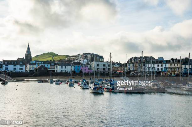 uk, england, devon, picturesque harbour town of ilfracombe - ilfracombe stock pictures, royalty-free photos & images