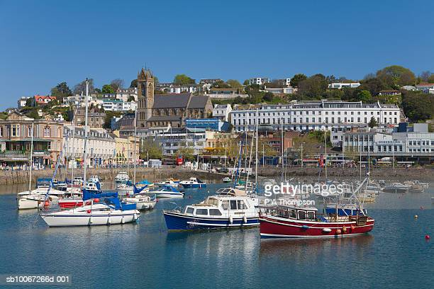 England, Devon, Torquay, Town and harbour