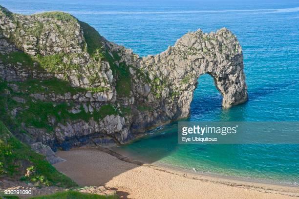 England Dorset Durdle Door Limestone arch on the Jurassic Coast