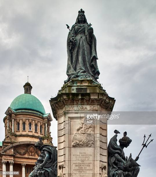 England East Riding of Yorkshire Kingston Upon Hull City Statue of Queen Victoria And Hull City Hall