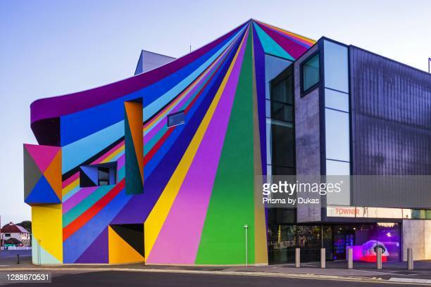 England, East Sussex, Eastbourne, The Towner Art Gallery, Exterior Mural Artwork by Lothar Gotz.