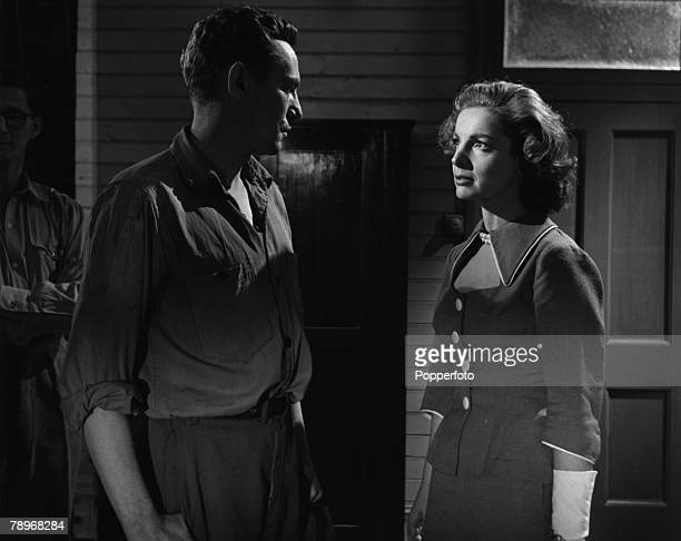 England Elizabeth Sellars and Peter Finch are pictured in a scene from the film The Shiralee