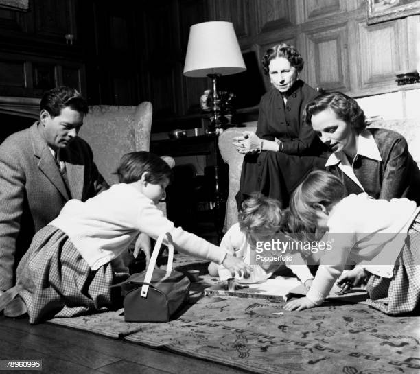 England ExKing Michael of Romania is pictured with the rest of his family in their English home LR King Michael eldest daughter Princess Margaret the...