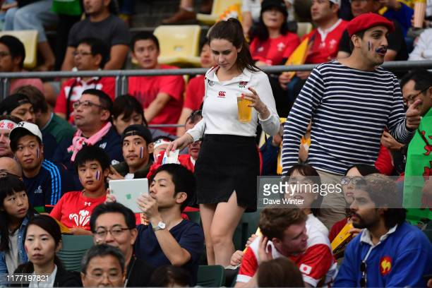 England fan during the Rugby World Cup 2019 Quarter Final match between Wales and France on October 20 2019 in Oita Japan